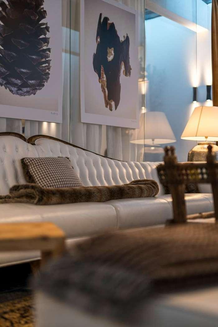 divano lounge relax in pelle bianca